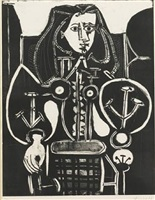 femme au fauteuil no 4 (d'aprés le violet), [armchair woman no. 4 (from the violet)] by pablo picasso